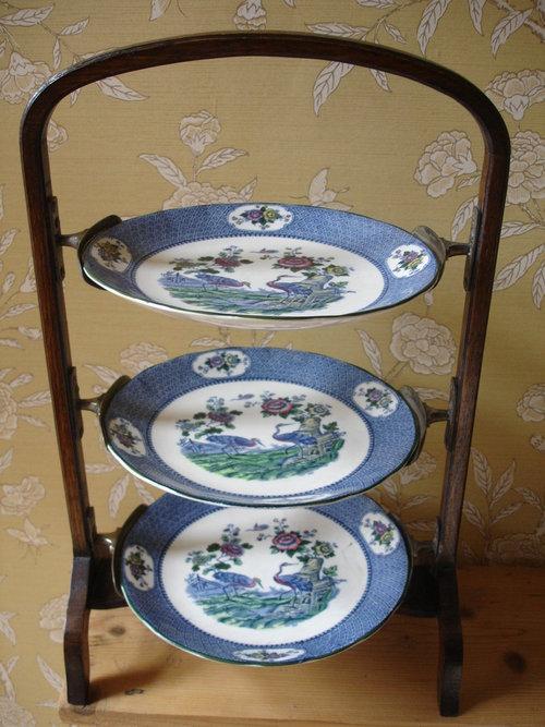 Arts \u0026 Crafts Oak \u0026 Silver Plate 3 Tier Cake Stand ... & Arts \u0026 Crafts Oak \u0026 Silver Plate 3 Tier Cake Stand - Antiques Atlas