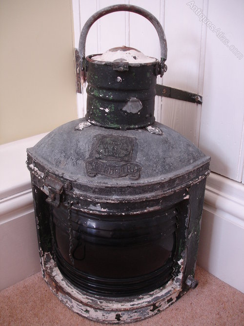 Quirky Antique Galvanised Ships Lantern Lamp Light