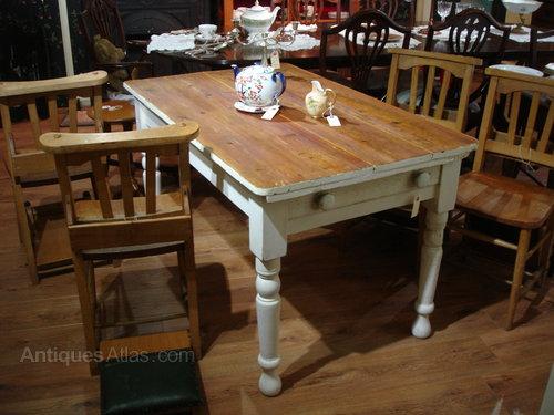 Victorian Stripped Pine Farmhouse Kitchen Table Antiques Atlas