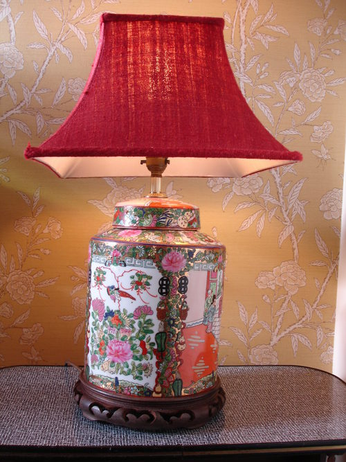 Vintage oriental table lamps lamp design ideas antiques atlas 19thc cantonese famille rose chinese table lamp aloadofball Image collections