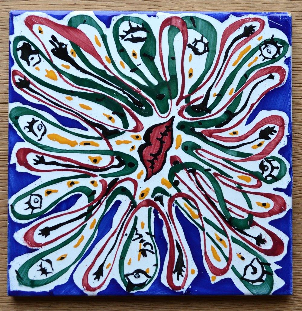 """""""La Suite Catalane"""" Set Of 6 Dali Ceramic Tiles"""
