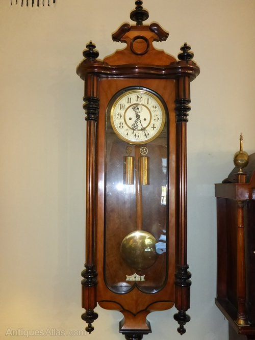 Antiques Atlas Antique Vienna Wall Clock Weight Driven