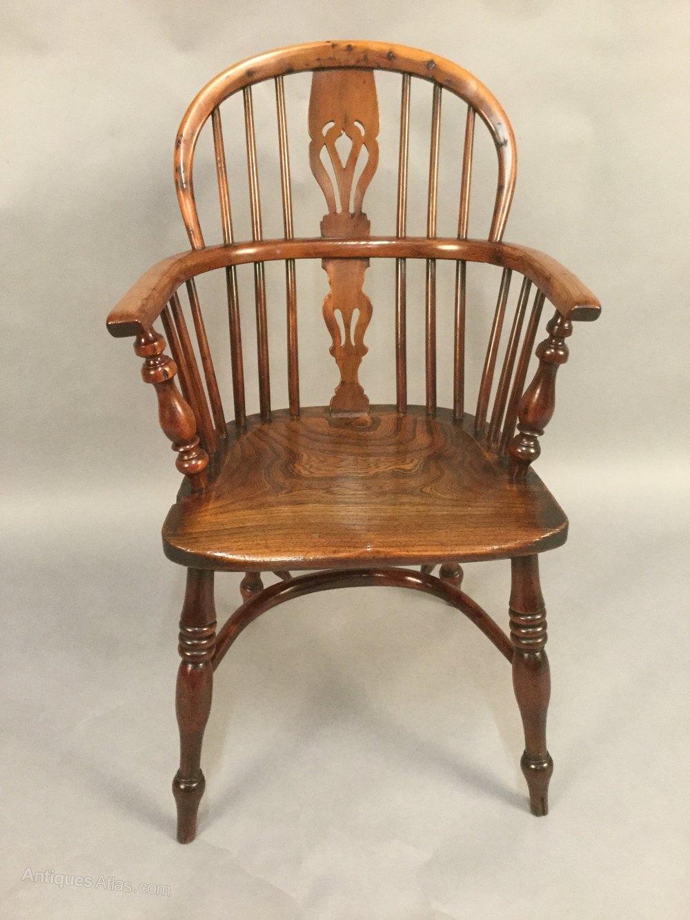 Fine Yew Wood Windsor Chair Rockley Maker Antiques Atlas