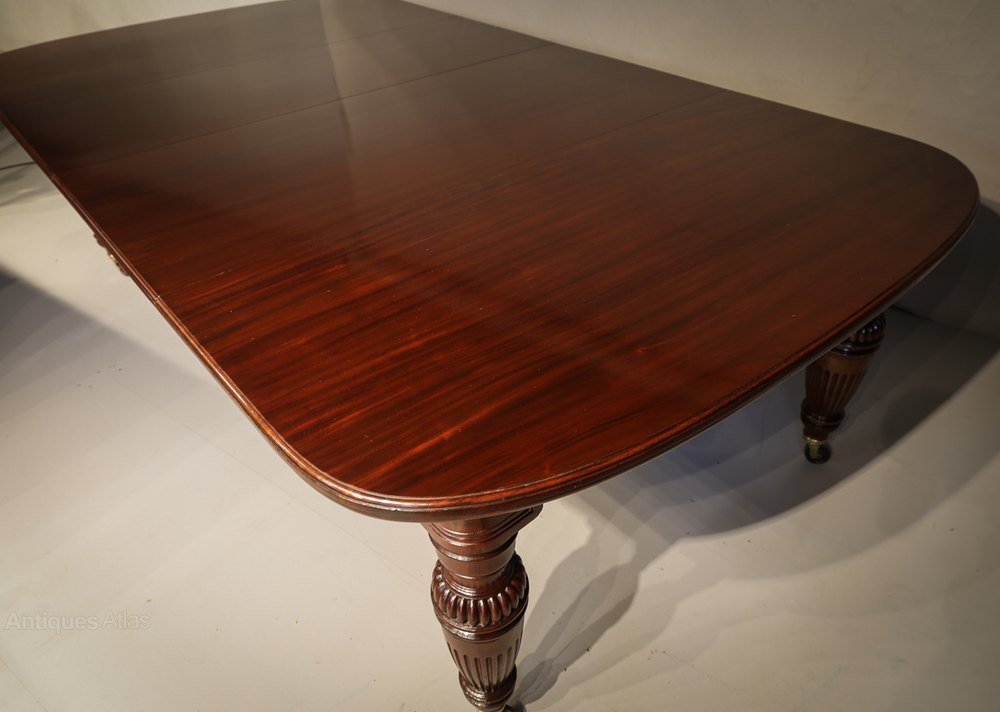 Good quality victorian wind out extending dining t for Good quality dining tables