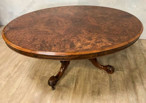 Groovy Victorian Burr Walnut Coffee Table Caraccident5 Cool Chair Designs And Ideas Caraccident5Info