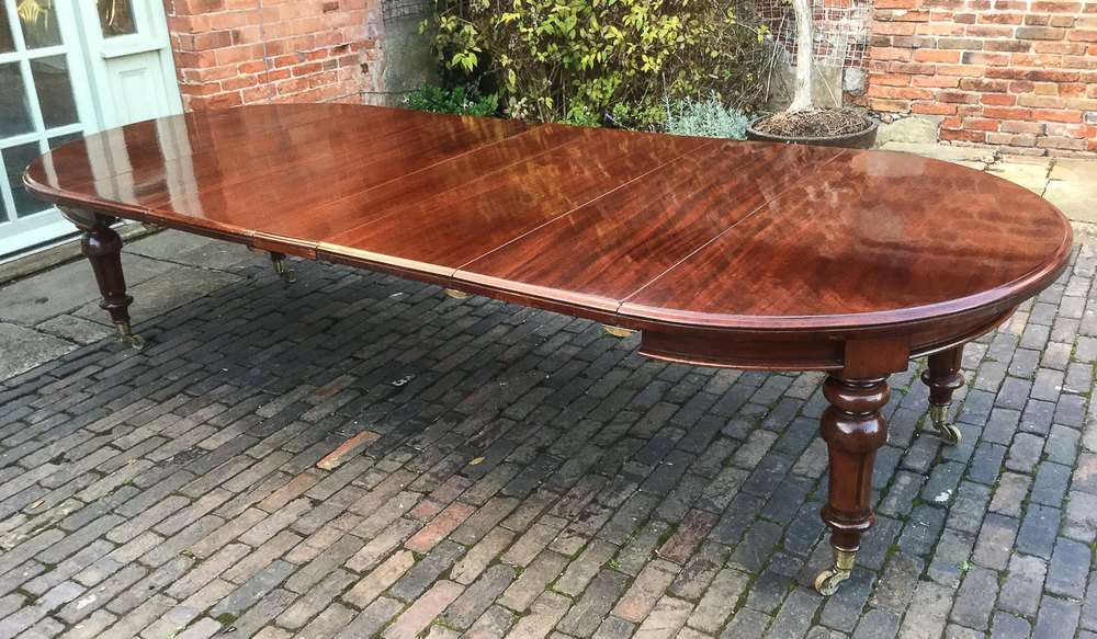 Victorian Mahogany Round End Extending Dining Tabl Antiques Atlas