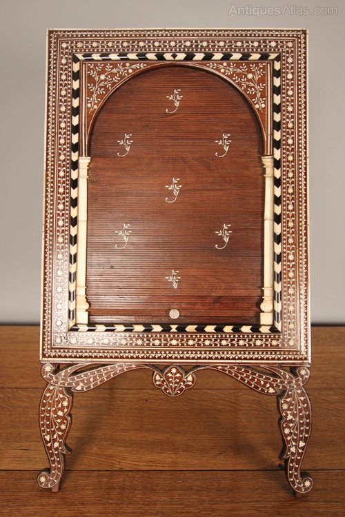 Antiques Atlas 19th C Inlaid Anglo Indian Dressing Table