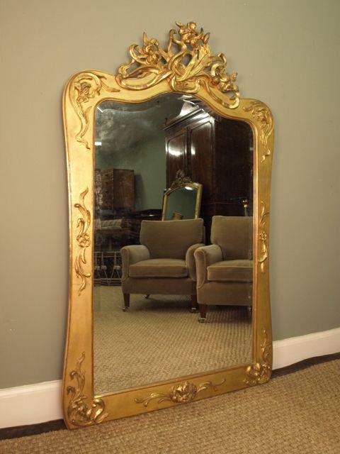 A Giltwood Art Nouveau Wall Mirror