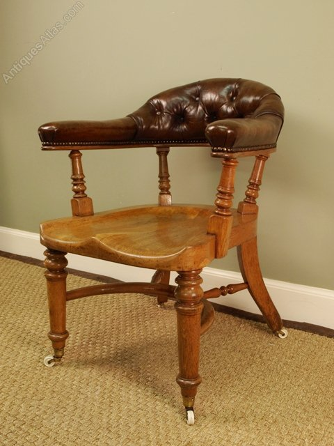 victorian office chair. A Stylish Oak Victorian Office Chair Antique Chairs