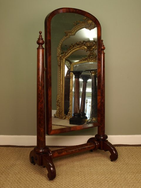 Antiques Atlas A William Iv Mahogany Cheval Mirror