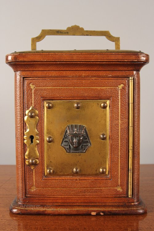Antiques Atlas - Victorian Leather & Bronzed Money Case