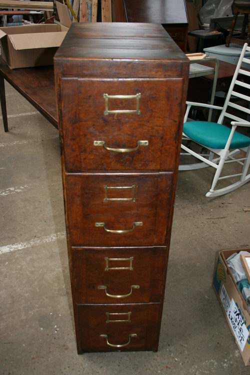 Antique Oak Filing Cabinet - Antique Oak Filing Cabinet - Antiques Atlas