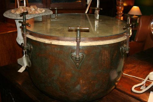 Victorian Copper Kettle Drum Coffee Table Antiques Atlas - Copper drum coffee table