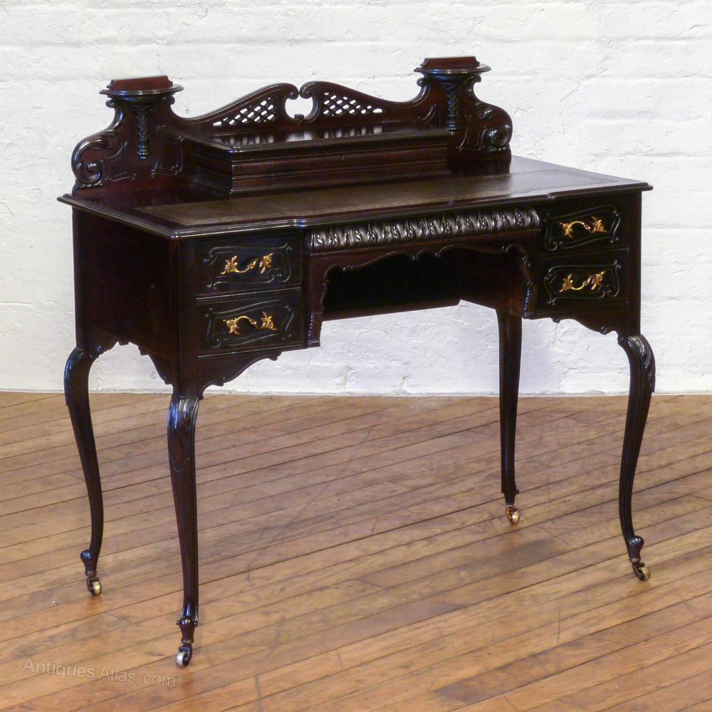 Ladies Writing Desk ~ Edwardian mahogany ladies writing desk antiques atlas