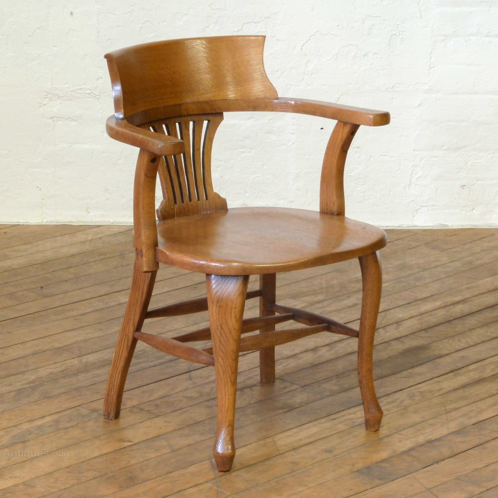 Edwardian oak desk chair antiques atlas