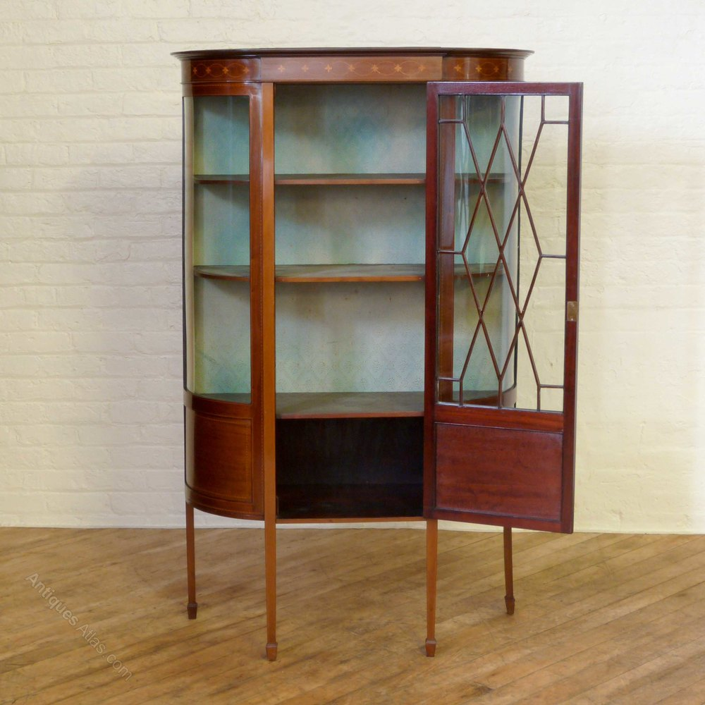 mahogany display cabinet edwardian sheraton style mahogany display cabinet 3954