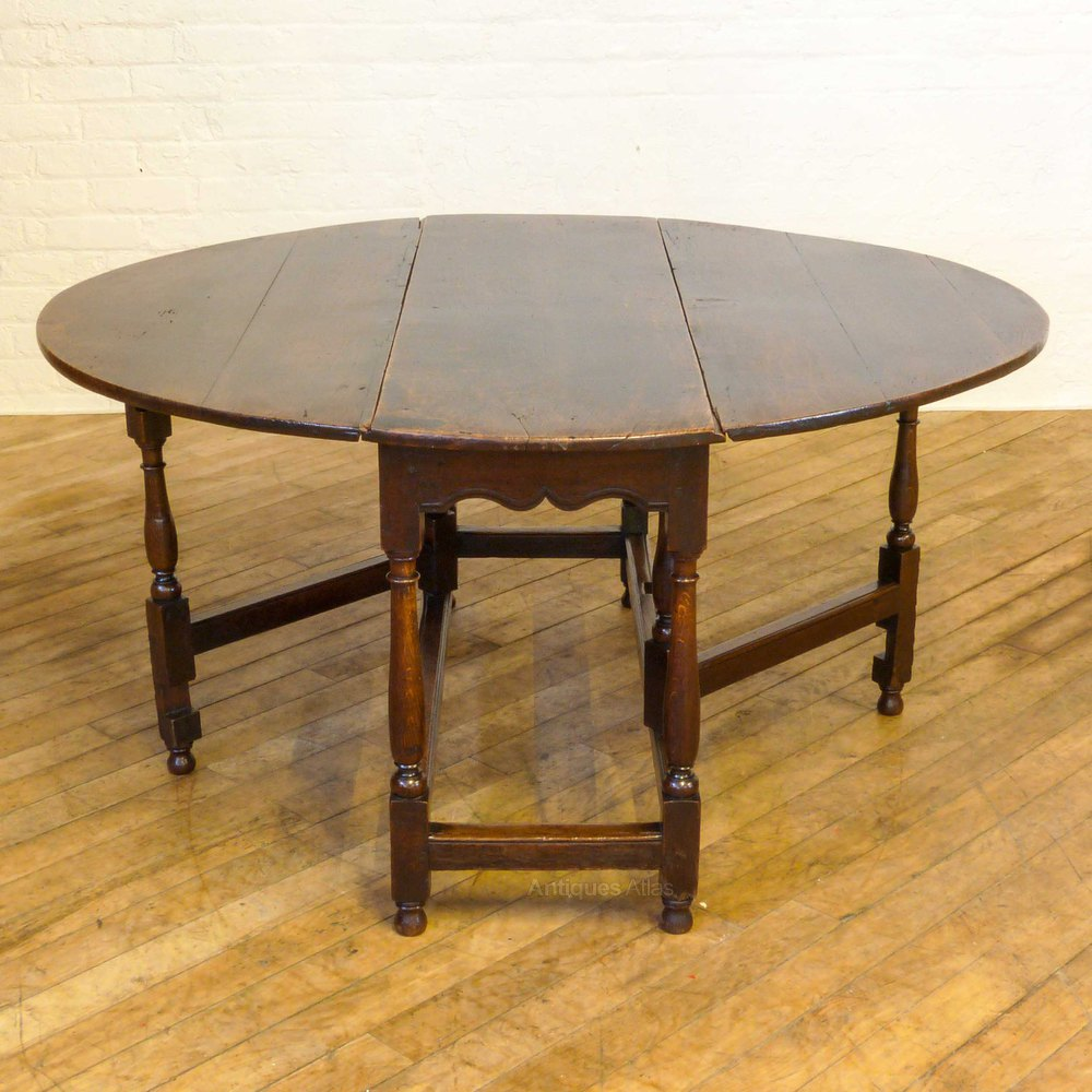 Georgian Oak Gateleg Table Antiques Atlas - Antique gateleg tables