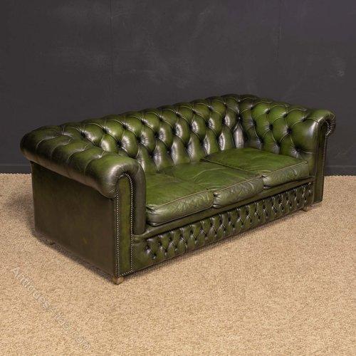 Strange Antiques Atlas Green Leather Chesterfield Sofa Machost Co Dining Chair Design Ideas Machostcouk