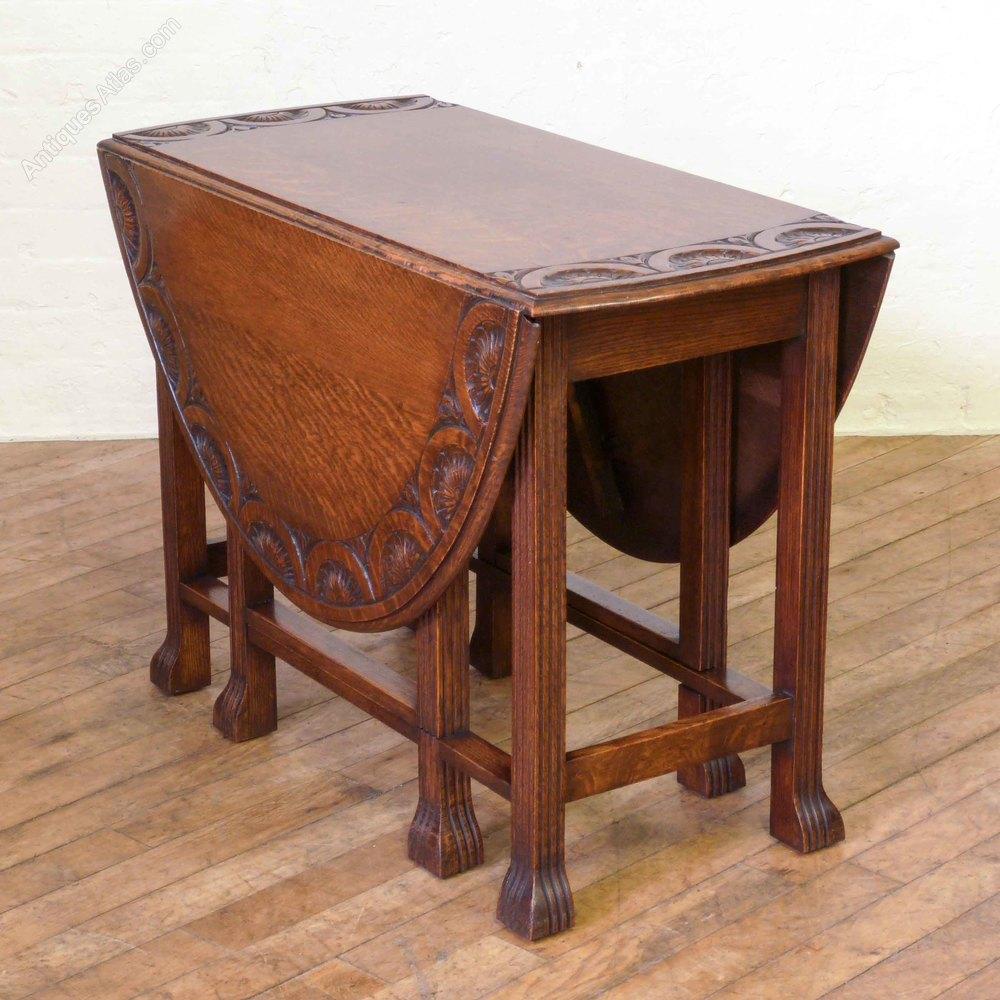 Oak gateleg table with reeded legs antiques atlas