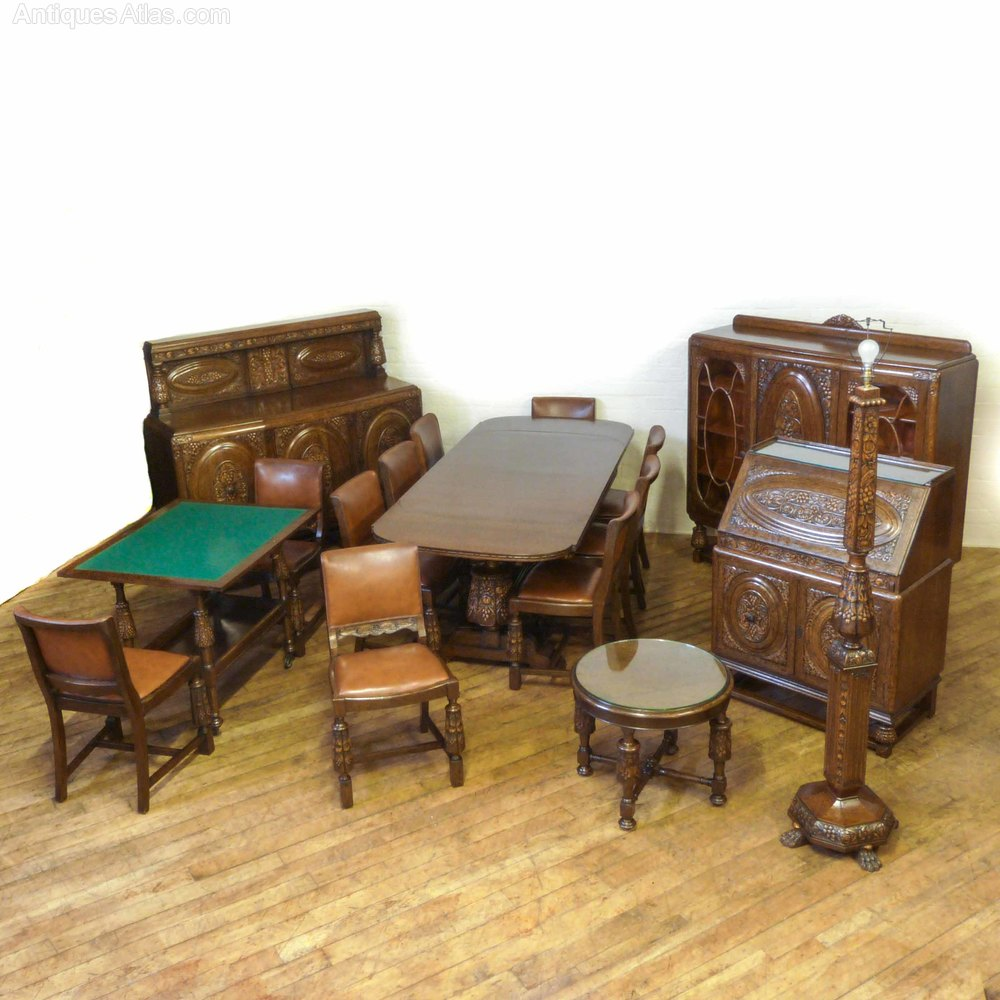 Rare 17 Piece Oak Suite Of Matching Furniture Antiques Atlas