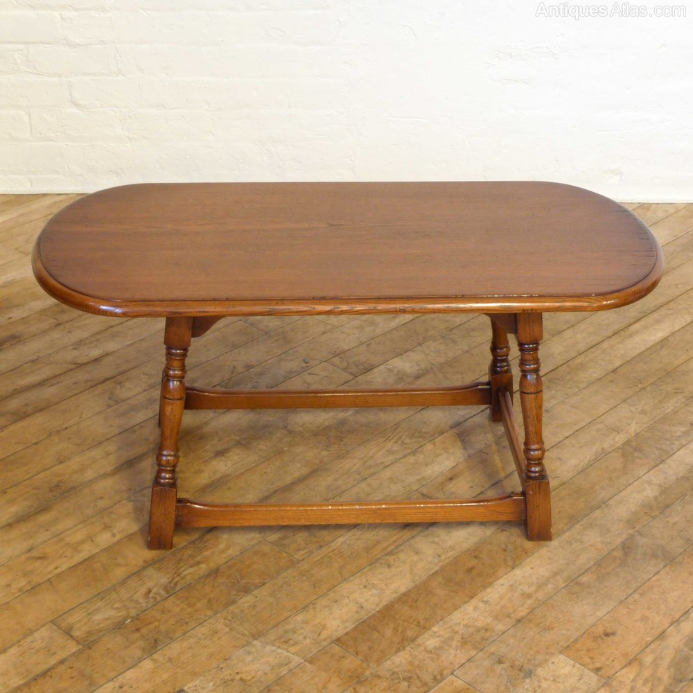 Antiques Atlas Vintage Oak Oval Coffee Table