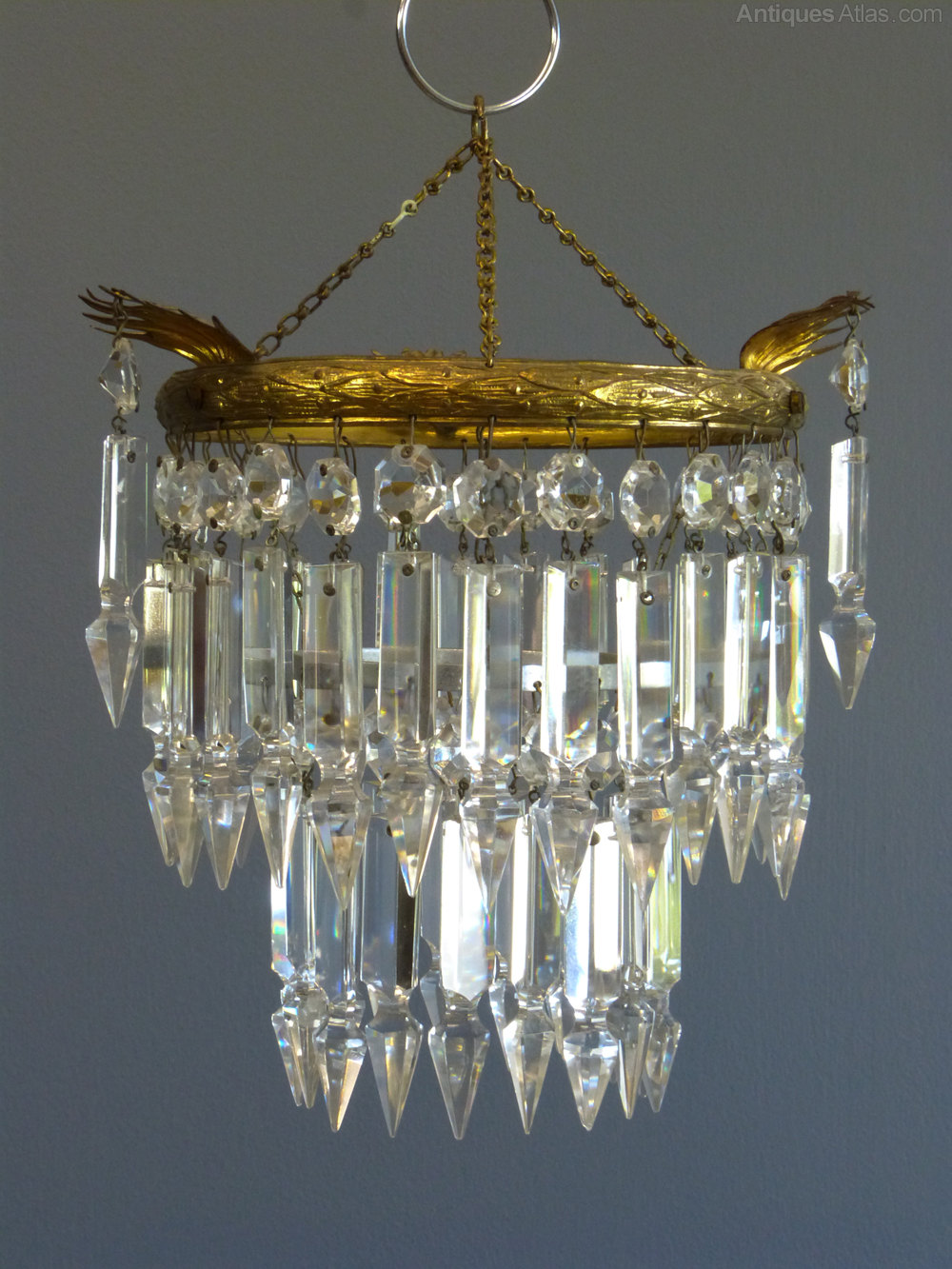 Antiques atlas 1930s small albert drop chandelier 1930s small albert drop chandelier antique chandeliers chandelier cut glass aloadofball Gallery