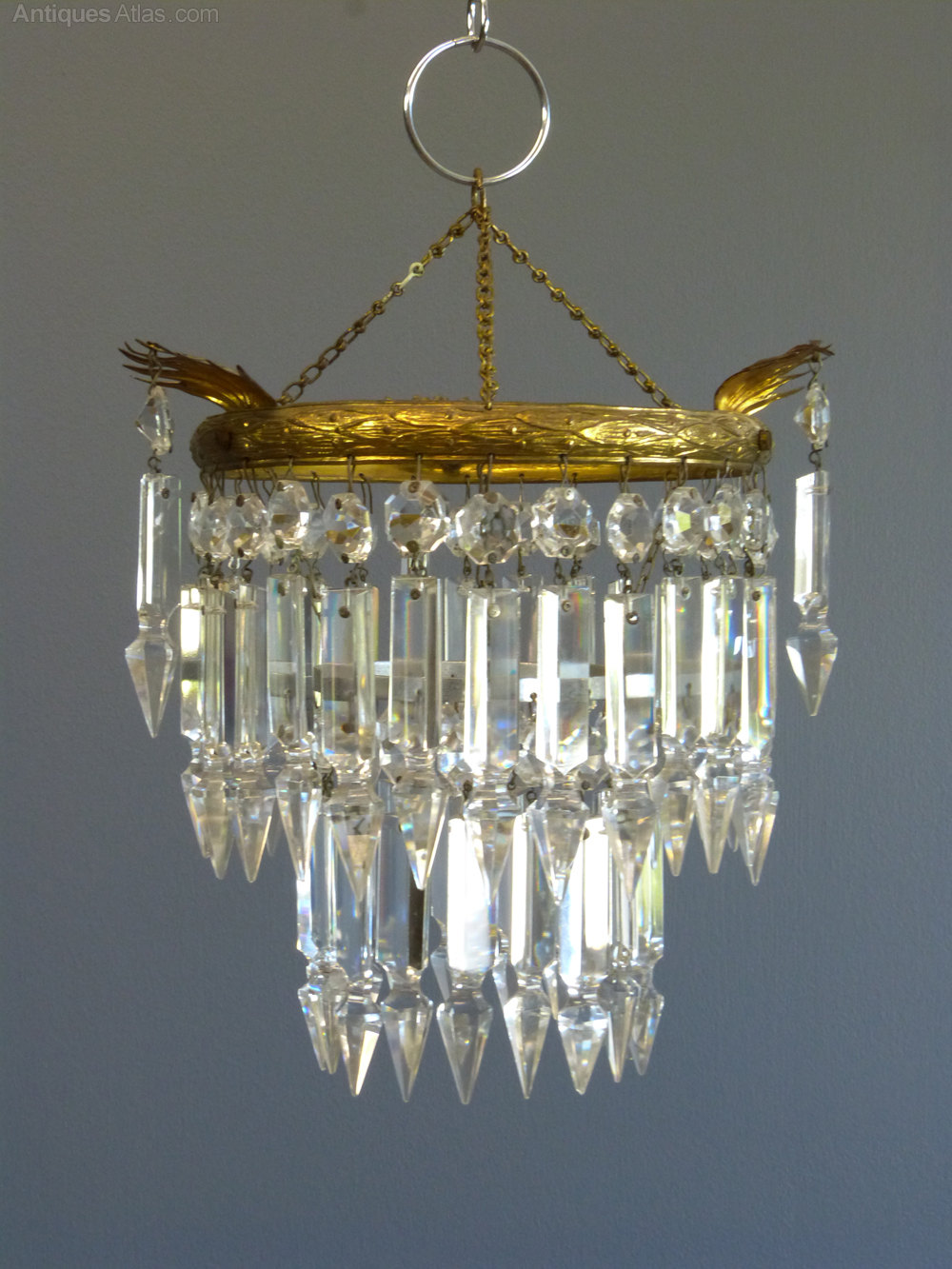 Antiques atlas 1930s small albert drop chandelier 1930s small albert drop chandelier mozeypictures