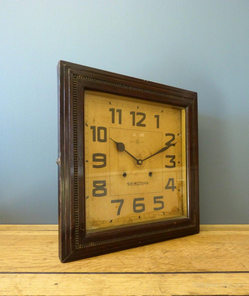 Antiques Atlas - Art Deco Japanese Wall Clock