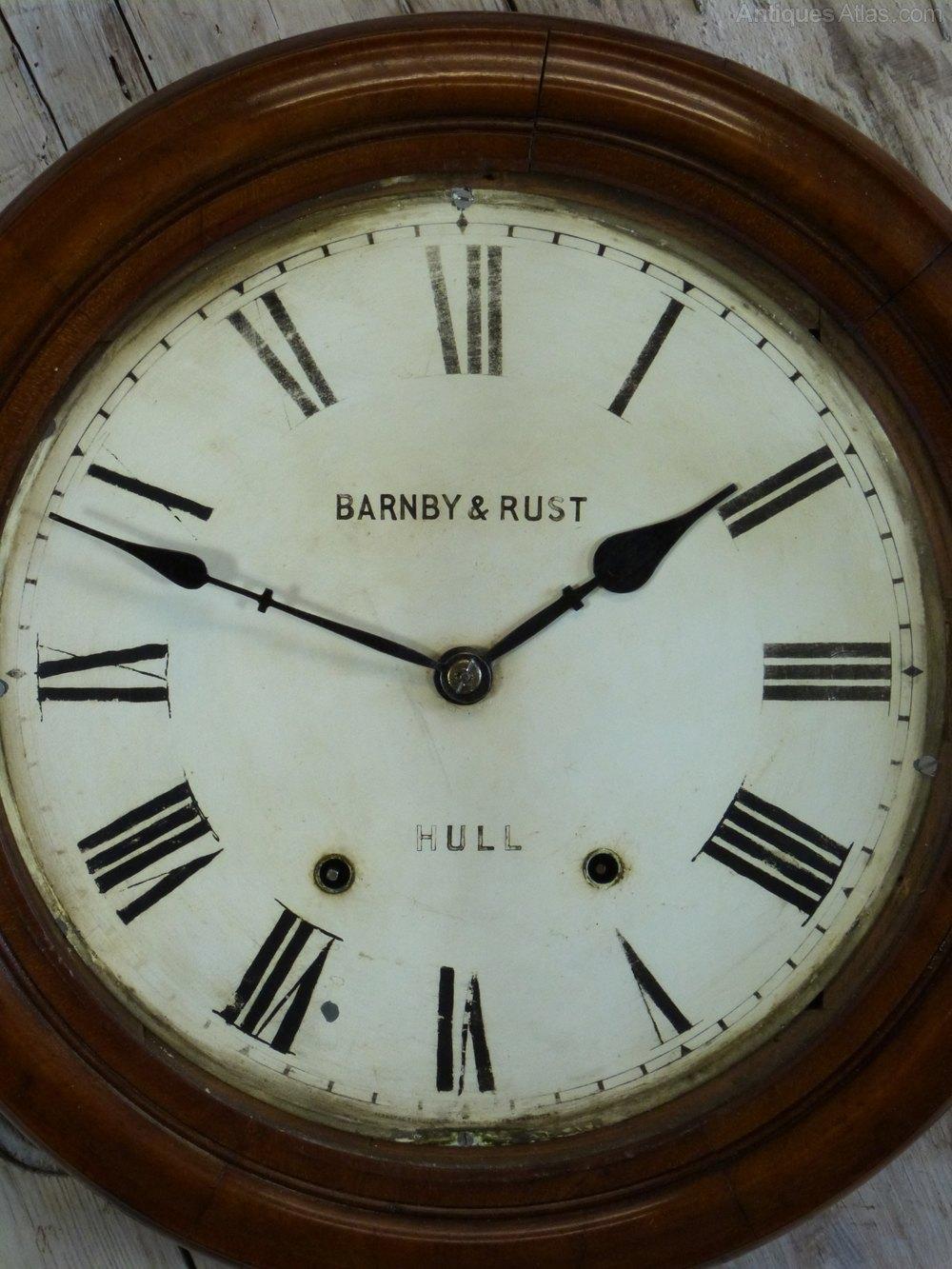 Antiques atlas barnby rust of hull railway wall clock barnby rust of hull railway wall clock antique station wall clocks amipublicfo Gallery