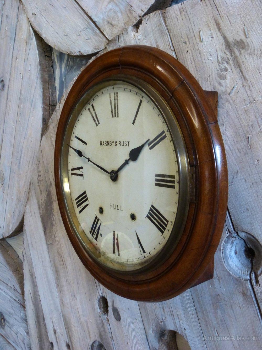 Antiques atlas barnby rust of hull railway wall clock wall clock alt5 amipublicfo Gallery