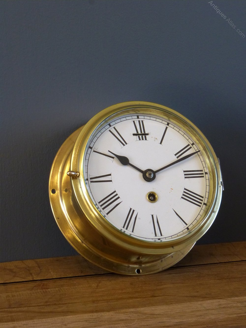 Antiques Atlas Empire Brass Ships Clock