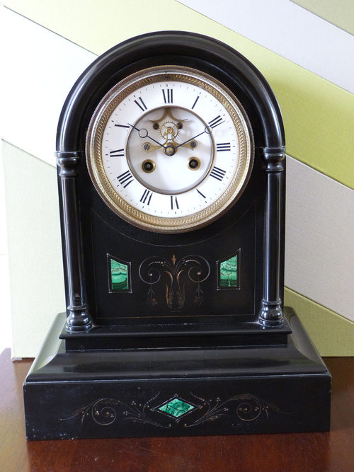 Antiques Atlas French Belge Noir Marble Clock