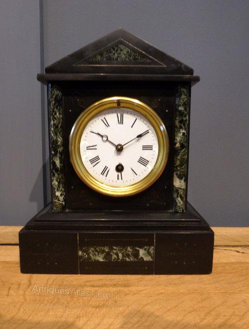 Vintage marble mantel clocks