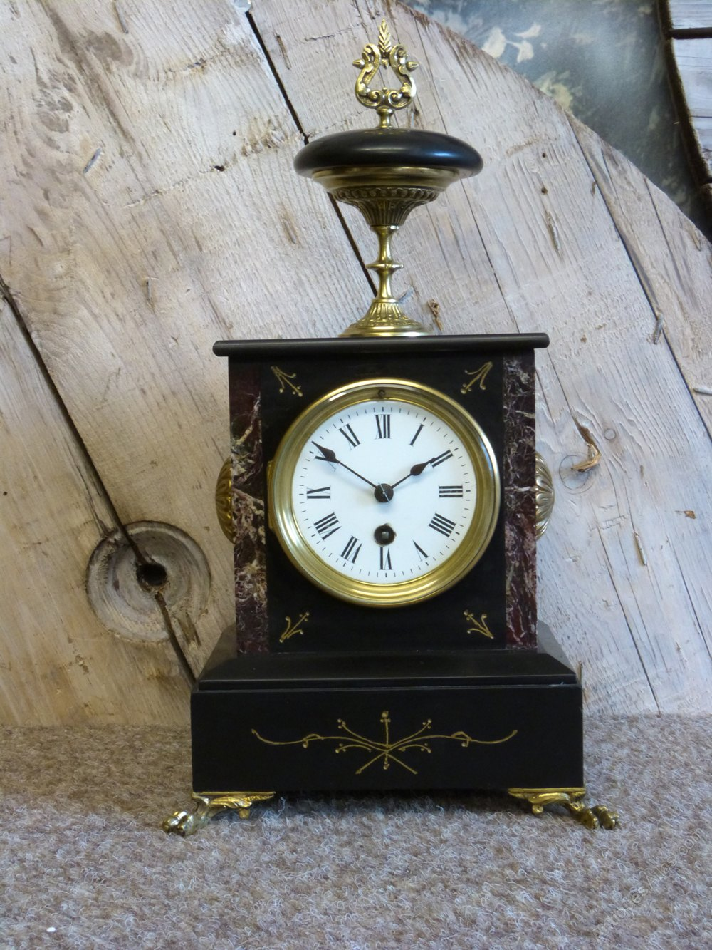 Antiques Atlas French Slate Amp Marble Mantel Clock
