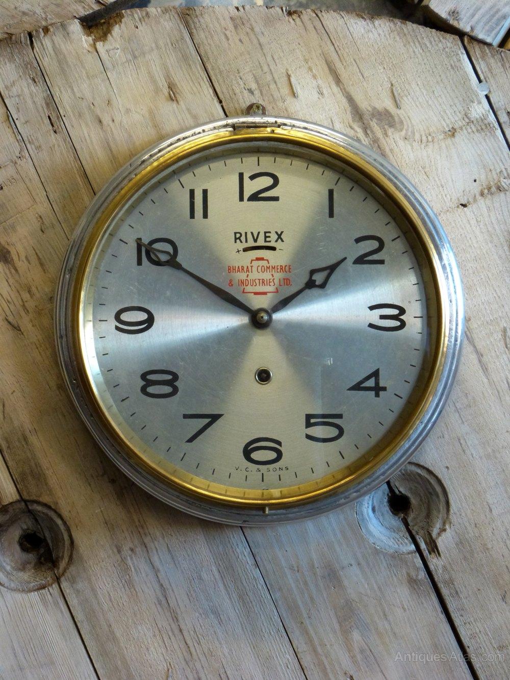 Antiques Atlas Indian Rivex Wall Clock