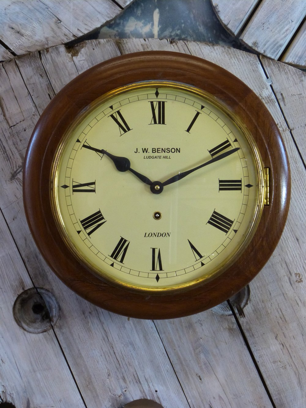 Antiques Atlas J W Benson 8 Day Wall Clock