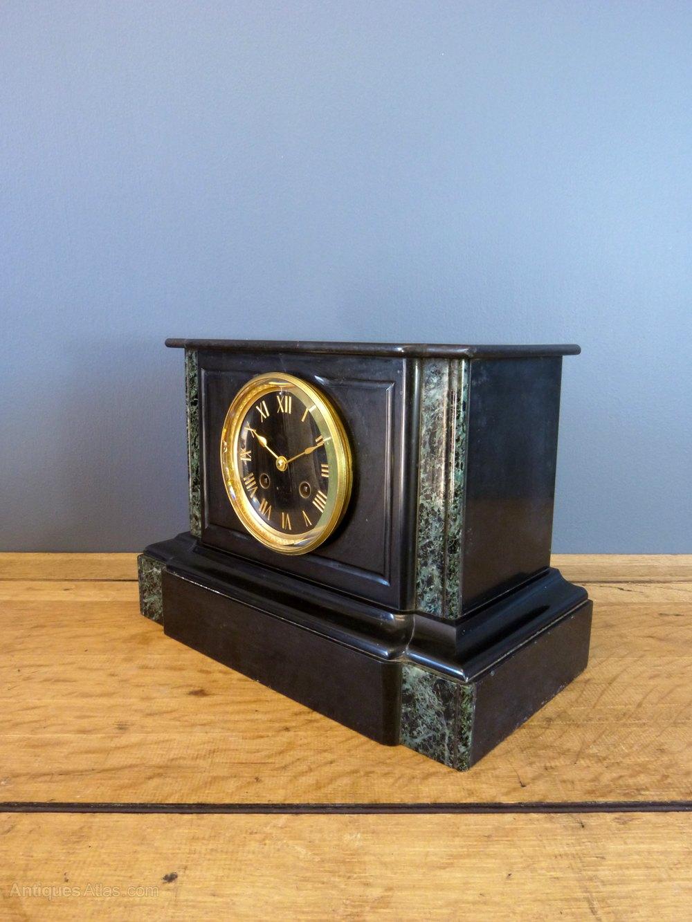 Antique Mantel Clocks >> Antiques Atlas - Japy Freres Slate Mantel Clock