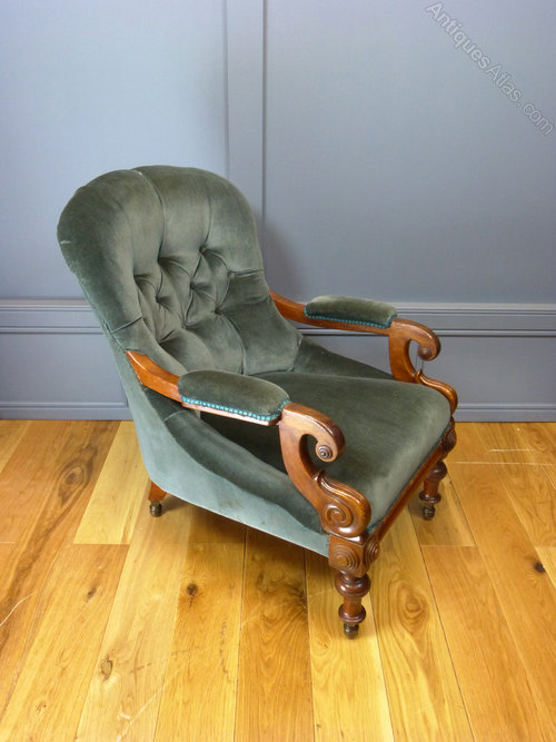 Victorian Upholstered Armchair - Antiques Atlas