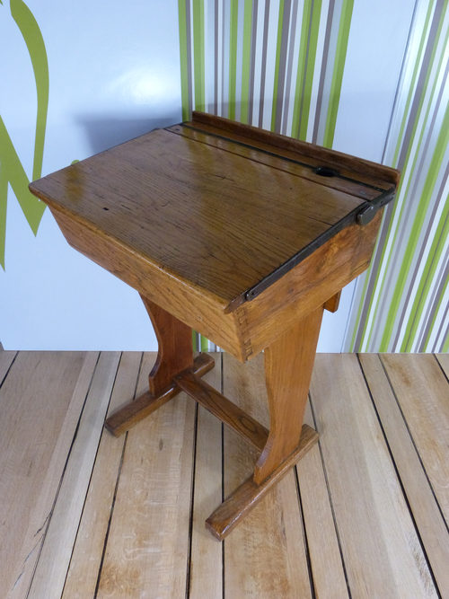 Vintage Oak School Desk - Antiques Atlas - Vintage Oak School Desk