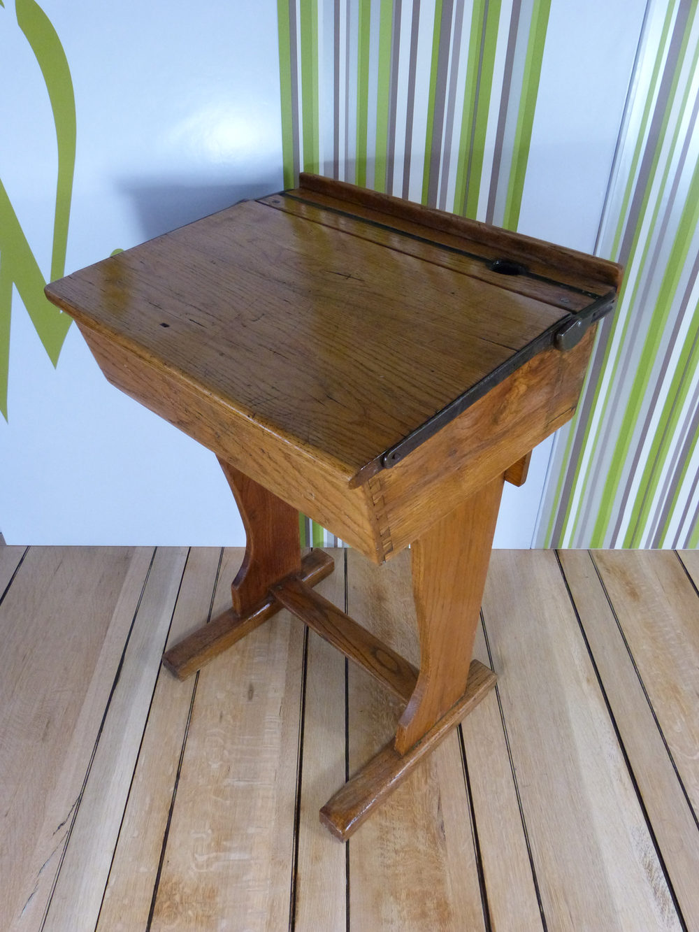 Vintage Oak School Desk ... - Antiques Atlas - Vintage Oak School Desk