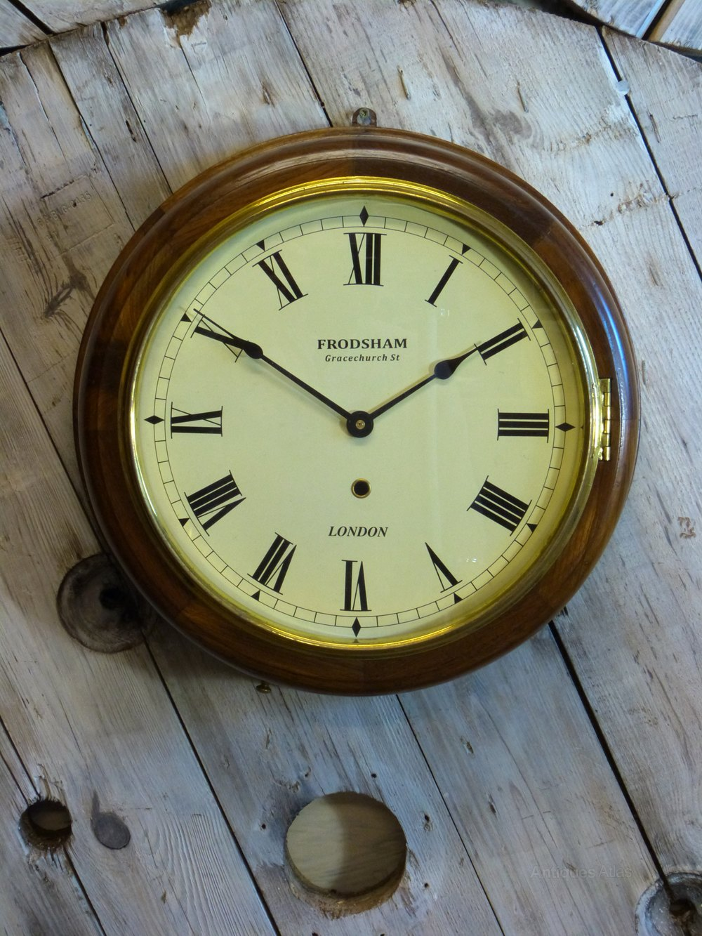 Antiques Atlas Wooden Naval Wall Clock