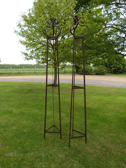 Wrought Iron Obelisks Garden ...