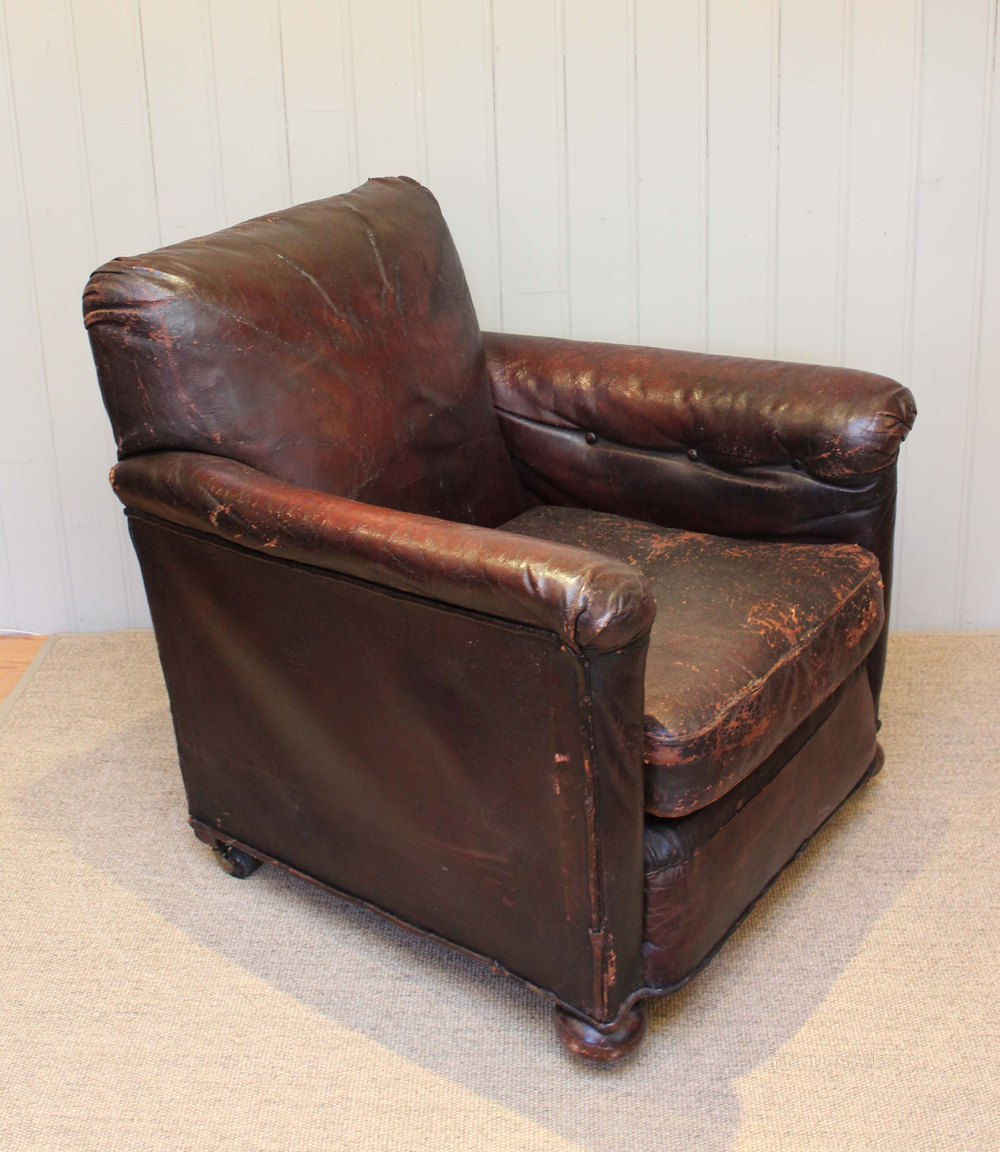 1920s Leather Armchair - Antiques Atlas