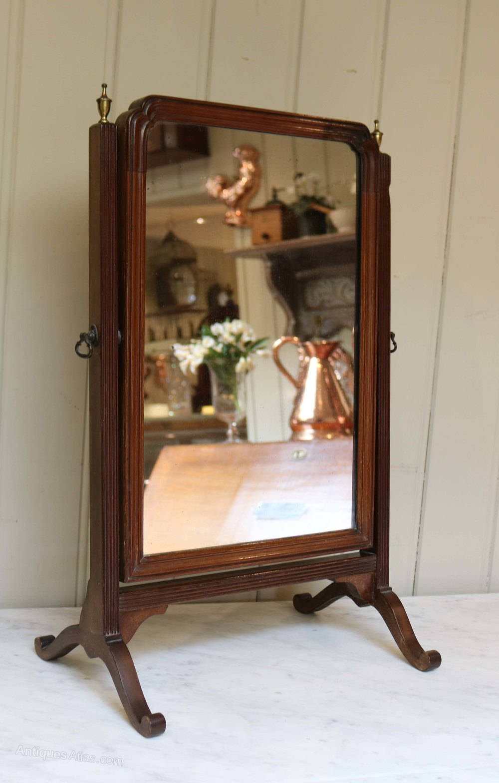 Antiques atlas th century mahogany dressing table mirror