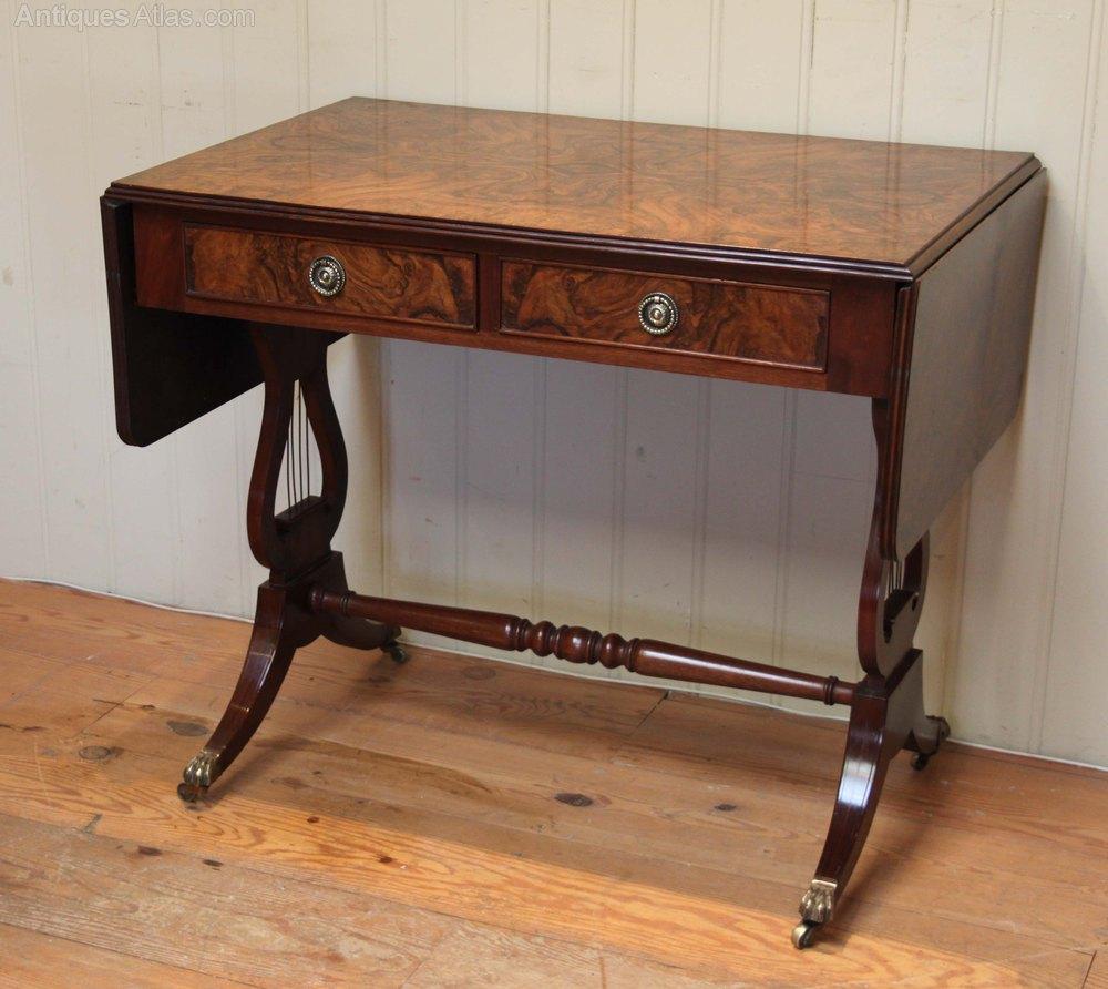 Burr Walnut Drop Leaf Sofa Table Antiques Atlas