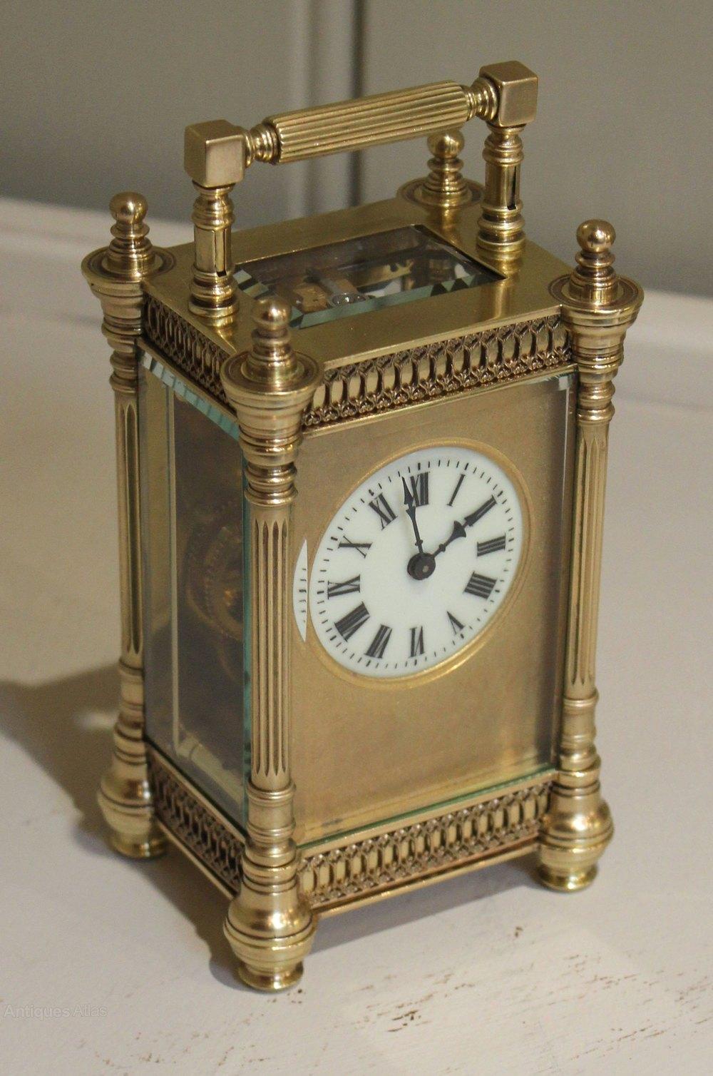 Antiques Atlas - Edwardian DecorativeTimepiece Carriage Clock
