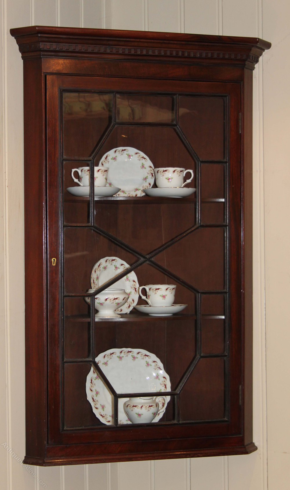 Edwardian Mahogany Corner Cabinet Antiques Atlas
