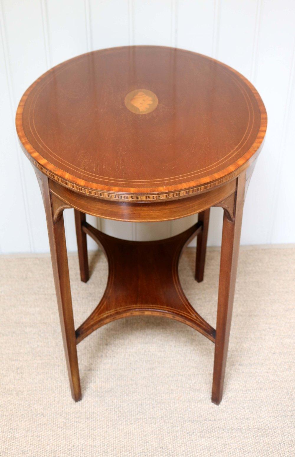 Photos. Edwardian Oval Inlaid Table ...