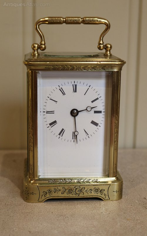 Antiques Atlas - Engraved Brass Carriage Clock (France, C  1860)
