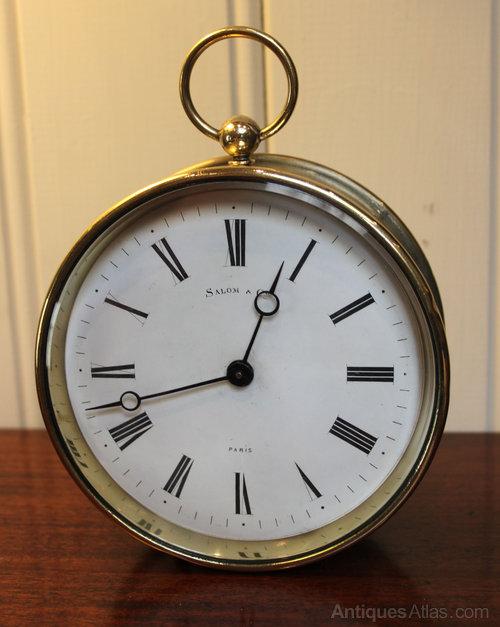 Antiques Atlas French Brass Drum Mantel Clock